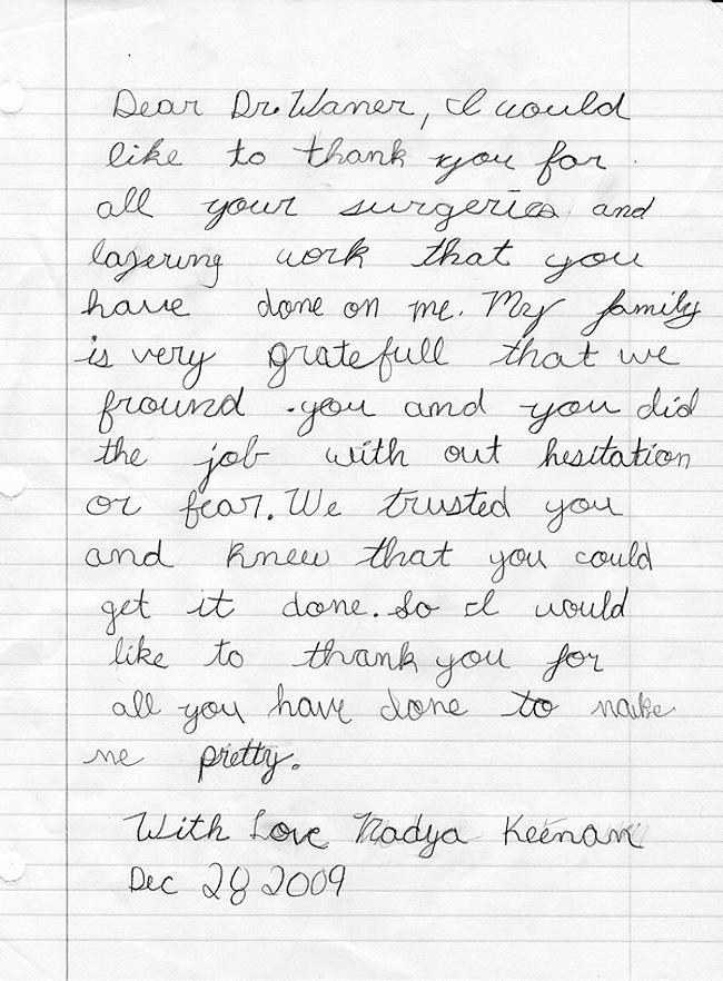 Nadya's letter